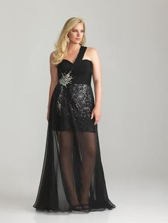 3ac39a7f44a29 Night Moves Plus Size Prom - Night Moves 6769W available at Party Dress  Express - 657