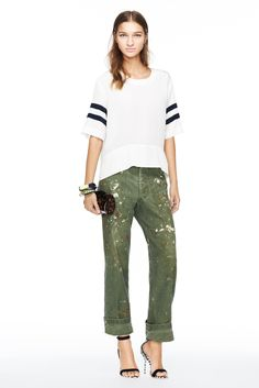 J.Crew women's spring/summer '14 collection.  The chinos are appx 1/2 price now(if you catch sale + promo code)