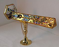 Stained Glass Kaleidoscope - Art Deco Style - Ertes Cheetah via Etsy  by Trina Young of Sister Art Glass.