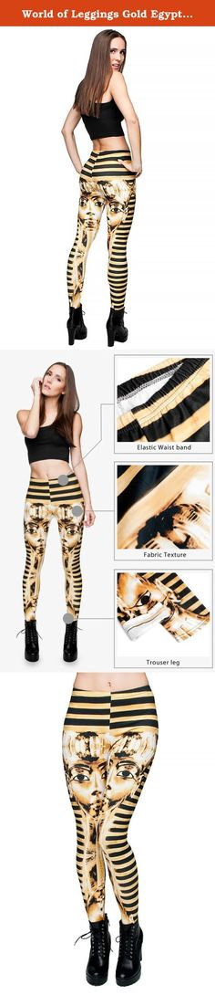 World of Leggings Gold Egyptian Pharaoh Leggings. HIGH QUALITY 3D GRAPHIC PRINT MILK SILK LEGGINGS World of Leggings provides the very best women's leggings with the quality you expect and prices that paint a smile. You will fall in love with our graphic print leggings, made from our luxurious milk silk fabric. These leggings are amazing in so many ways from their superb fit, stunning graphic detail and their high quality stitch and body wrap feel. Every one has a unique and dynamic…