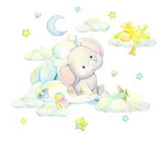 Baby Prints, Nursery Prints, Baby Elefante, Elephant Wallpaper, Baby Room Wall Decor, Unisex Baby Shower, Cute Baby Elephant, Cute Frames, Bunny Art