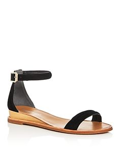 8b2830080 Kenneth Cole Women s Jenna Suede Ankle Strap Demi Wedge Sandals Shoes Flats  Sandals