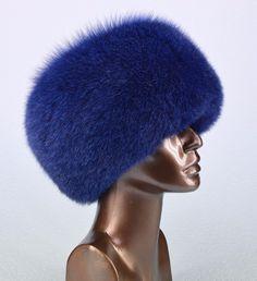 Genuine Real Fancy Saga Furs Blue Fox Cossack Winter Hat | eBay