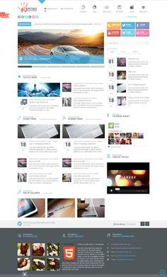 Maestro Wordpress Theme #wordpress #theme #website #template #responsive #design #webdesign #flat #flatdesign #magazine #news #blog