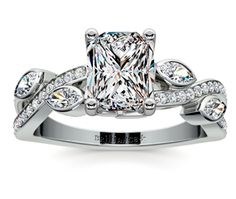 Radiant Twisted Petal Diamond Engagement Ring in Platinum  http://www.brilliance.com/engagement-rings/twisted-petal-diamond-ring-platinum