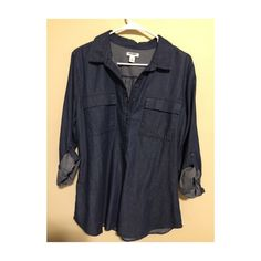 Old Navy Denim Tunic Old Navy Denim Tunic. Size Large. Never worn. Old Navy Tops Tunics                                                                                                                                                                                 More