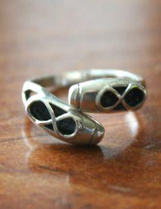 Ballet Shoes Ring Sterling Silver Adjustable by kandsimpressions, $30.00