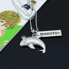Iwatobi Swim Club Makoto Whale Crown Necklace Pendant