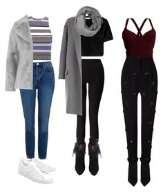 """Untitled #28"" by nidaaltayy on Polyvore featuring Yves Saint Laurent, Elizabeth and James, Miss Selfridge, Topshop, Jakke, adidas Originals and CÉLINE"