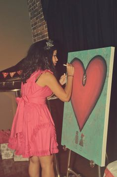 Have guests sign a canvas painting instead of a guest book. Fun for a kids party, baby shower, etc.