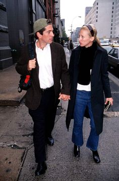 10/10/1996. John F. Kennedy Jr. and his wife Carolyn Bessette Kennedy
