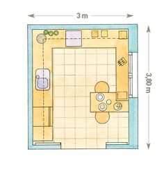 Kitchen Layout Plans, Kitchen Floor Plans, Amazing Architecture, Architecture Design, Kitchen Decor, Kitchen Design, Bed Workout, Wood Joints, House Front Design