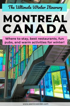 Things To Do In Montreal In Winter Montreal Weekend Itinerary For Winter Weekend In Montreal In Winter 3 Day Montreal Itinerary Montreal In Winter, Montreal Travel, Montreal Canada, Montreal Quebec, Travel Guides, Travel Tips, Travel Destinations, Travel Advice, Budget Travel