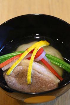 玄米餅を使った鴨雑煮