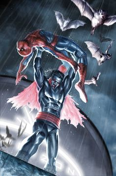 MORBIUS THE LIVING VAMPIRE vs Spider-Man by Stefano Caselli