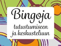 Tulostettavia tutustumisbingoja erikokoisille ryhmille | RyhmäRenki Pre School, Back To School, Primary English, A Classroom, Happy People, Social Skills, Speech Therapy, Bingo, Special Education