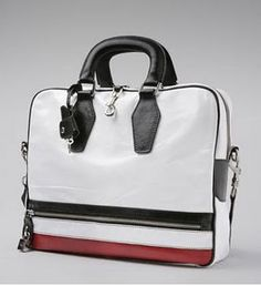 D vintage work bag. perfect alternative to the boring brown and black briefcases. mens fashion accessories.