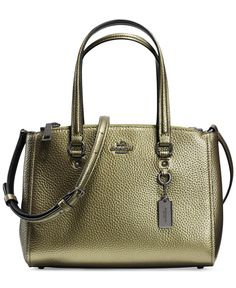 Coach Stanton Carryall 26 In Metallic Pebble Leather