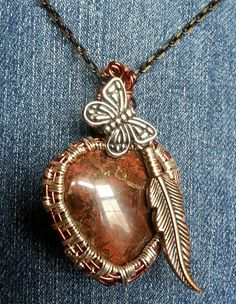 Heart shaped wire wrapped pendant