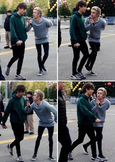 Niall: Louis. Louis. Look at me look at me. Can you see me? Say hello to Ireland. Quick say it. Louis. Louis.