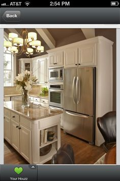 Small Kitchen Remodeling White Kitchen Design Ideas To Inspire You 15 - When we talk about kitchen the basic definition is the same: the place where you cook from sandwiches to the most complicated dishes, and often you also eat the meals. Kitchen And Bath, New Kitchen, Taupe Kitchen, Kitchen White, Kitchen Layout, Kitchen Interior, Kitchen Themes, Narrow Kitchen, Cozy Kitchen