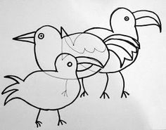 Deep Space Sparkle – How to draw a Bird Art Lesson