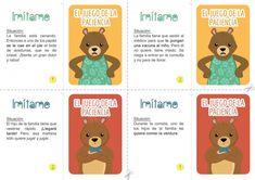"Juego ""El juego de la paciencia"" | Edúkame Kids Education, Feelings, Cards, Anna, Ideas, Feelings And Emotions, Virtual Class, Infant Activities, Alphabet"