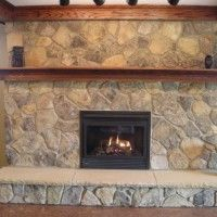 Classic Fireplace Facades Ideas : Amazing Inspiring Fireplace Facades Ideas With Painting Gallery Decorations Brainstormings