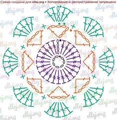 Octagonal motif symbol diagram Haken Tischläufer How to Make Plastic Yarn from Used Grocery Bags - Plarn Crochet Motif Patterns, Granny Square Crochet Pattern, Crochet Borders, Crochet Diagram, Crochet Chart, Crochet Squares, Crochet Stitches, Crochet Edgings, Crochet Leaves
