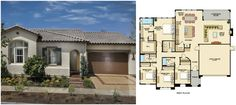 Larkspur Residence 1 Floorplan. Irvine. Beacon Park. Orange County. New Home. Real Estate.
