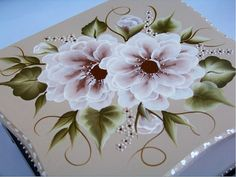 Hand Painted Wooden Tea Box by freepeoplee on Etsy
