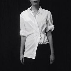 another perfect drape & tuck :: white shirts