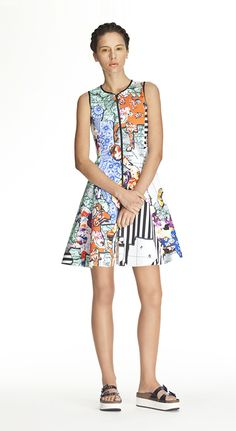 Summer/Pre-Fall 2014 - Clover Canyon coming soon to emporiumdna.com perfect summer look, neoprene, printed neoprene, Greece-inspired collection