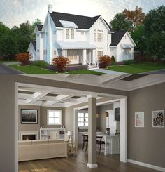 Architectural Designs Modern Farmhouse 25406TF gives you 4 beds and over 4,300 square feet of living. Ready when you are. Where do YOU want to build?