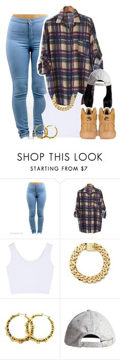 """""""Untitled #1463"""" by lulu-foreva ❤ liked on Polyvore featuring PEPER, H&M and NIKE"""