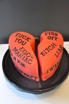 Anti Valentine day cake