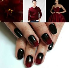 Black and red manicure