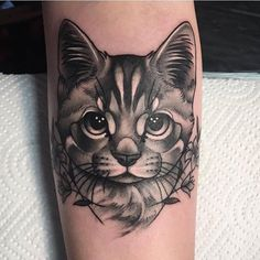 olio: Portrait Tattoo by from Body And Soul Tattoo – 20170726 olio.tattoo Portrait Kitty Tattoo von von Body And Soul Tattoo – Jersey City, NJ — Mehr bei: olio. Trendy Tattoos, Sexy Tattoos, Unique Tattoos, Sleeve Tattoos, Kitty Tattoos, Soul Tattoo, Make Tattoo, Tattoo Shop, Cat Portrait Tattoos