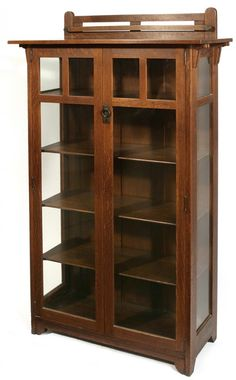 "Stickley Brothers Two-Door China Cabinet, #8745, 66"" H x 36"" W x 15"" D."