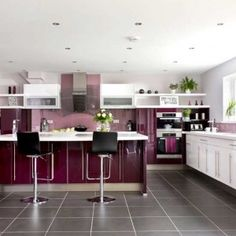 Kitchen color trend for 2012 - Very Berry! This warm, deep shade is perfect as an accent color or the main event. Read more: Kitchen Cabinet Kings- Buy Kitchen Cabinets Online and Save Big with Wholesale Pricing!