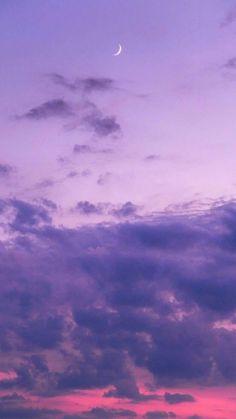 purple sunsets / night sky / twilight / crescent moons / lavender aesthetic / lavender pela phone case inspo / color love - All About Tumblr Wallpaper, Galaxy Wallpaper, Screen Wallpaper, Purple Wallpaper Phone, Clouds Wallpaper Iphone, Cloud Wallpaper, Dark Wallpaper, Wallpaper Quotes, Aesthetic Pastel Wallpaper