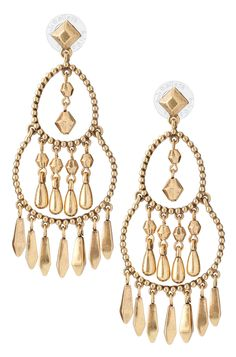Tribal-Inspired Gold Chandelier Earring | Reverie Chandeliers | Stella & Dot