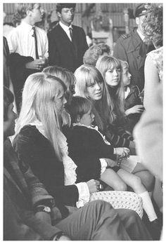 The Beatles Ladies Left to Right - Pattie Boyd, Cynthia & Julian Lennon, Maureen Starkey & Jenny Boyd