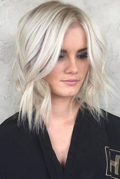 Lovely and Carefree Blonde Bob