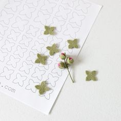 Small Four Sided Leaves - Printable PDF Pattern