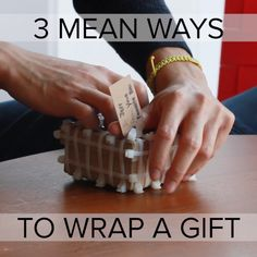 3 Mean Ways To Wrap A Gift // #gifts #holiday
