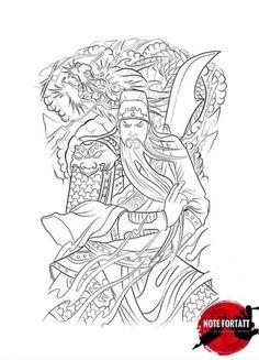 Full Back Tattoos, Japanese Dragon Tattoos, Traditional Japanese Tattoos, Asian Tattoos, Japan Tattoo, Tattoo Flash Art, Irezumi, Dragon Art, Color Tattoo