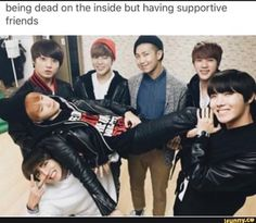 Being dead on the inside but having supportive friends