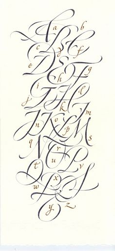 Cursive capitals by Luca Barcellona - Calligraphy & Lettering Arts, via Flickr