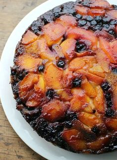Peach Blueberry Upside Down Cake